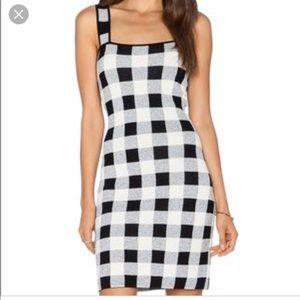 Theory Sharneel plaid jacquard-knit mini dress
